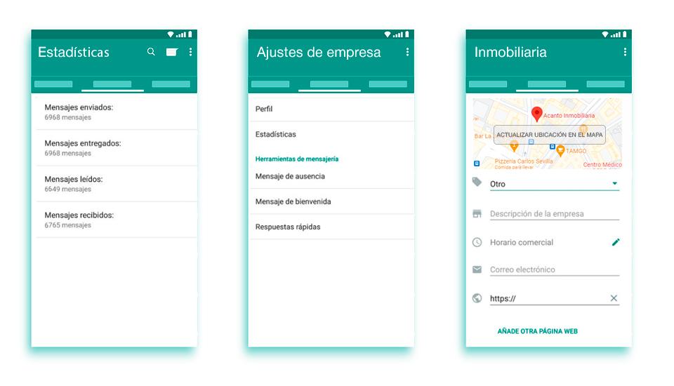 WhatsApp ajustes estadisticas