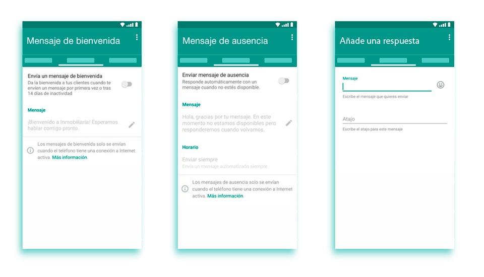 WhatsApp mensajes predefinidos